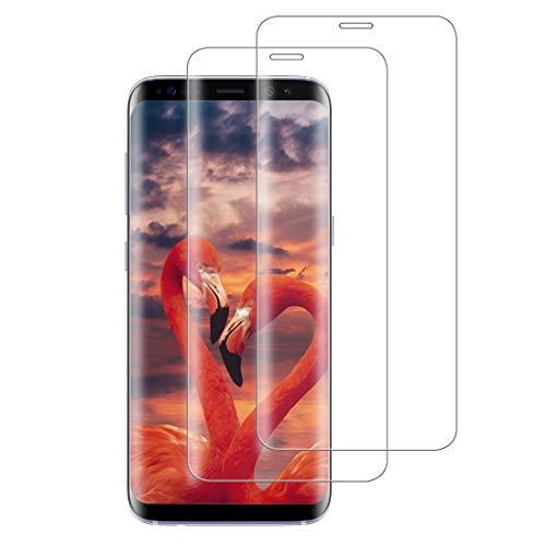XSWO 2 Unidades Cristal Templado Compatible con Samsung Galaxy S8, [3D Cobertura Completa] [Alta Sensibilidad] [9H Dureza] [Sin Burbujas] Vidrio Templado, Protector de Pantalla Galaxy S8