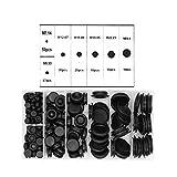 Yuhtech Juego de 170 tapones de goma para cortafuegos, kit de juntas de alambre eléctrico para...