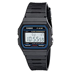 CASIO F91W-1 Casual Digital Sports Watch - best women's digital watches for small wrists