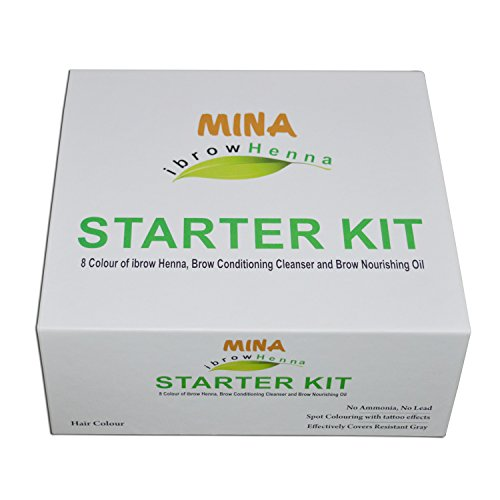 in budget affordable Minai Brow Henna Starter Kit (8 colors of Ibrow Henna, Eyebrow Cleaner & …