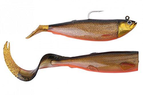 Savage Gear Cutbait Herring Gummifische, Köder für Dorsch, Heilbutt & Seelachs, Gummiköder zum Meeresangeln, 1 Köder fertig montiert + 1 Ersatzschwanz, Farbe:Red Fish, Länge/Gewicht:20cm - 270g