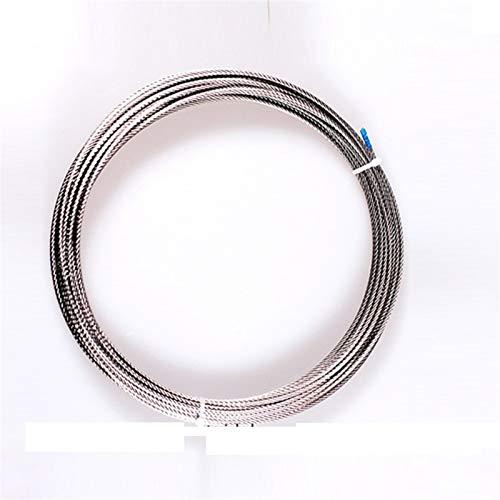 Cable Acero Trenzado,Cable De Alambre 50M / 100M 1,5 mm 1,8 mm 2 mm 304 Cuerda de alambre de acero inoxidable Cuerda Alambre cable más suave Pesca de elevación estructura del cable 7X7 Cuerda De Acero