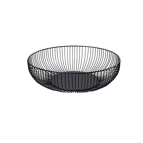 FJROnline - Frutero de hierro para frutas, diseño minimalista, color negro Large