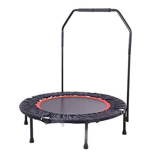ZHAOJBC Fitnessruimte-trampoline met verstelbaar stuur voor volwassenen en kinderen, 40 inch (40 cm), max. belasting: 150 kg.