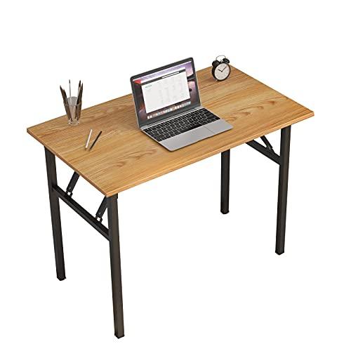 sogesfurniture Mesa Escritorio Plegable,100x60 cm Mesa de Ordenador Escritorio de Computadora Mesa de Estudio Mesa de...
