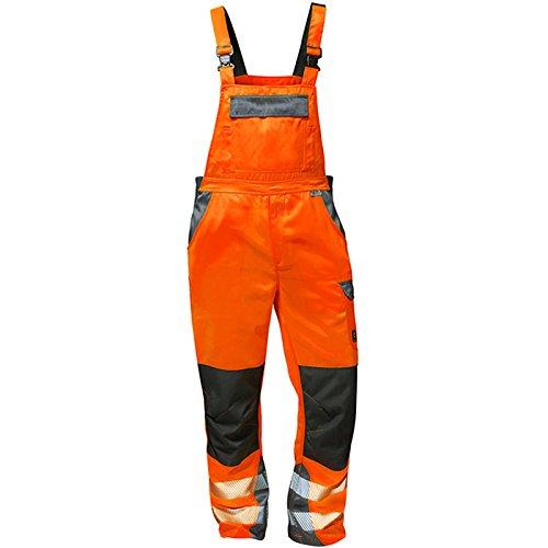 Elysee 22739-52 Warnschutz Latzhose Metz Größe 52 in orange/grau