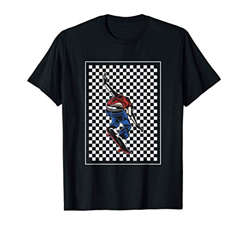 Checker Pattern Checkerboard Skater Patineta adolescente Camiseta