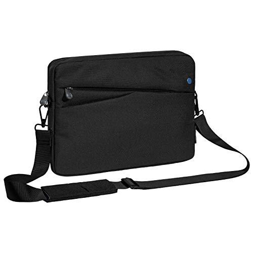 Pedea Tablet PC Tasche Fashion für 12,9 Zoll (32,8 cm) Tablet Schutzhülle mit Zubehörfach & Schultergurt, schwarz/blau