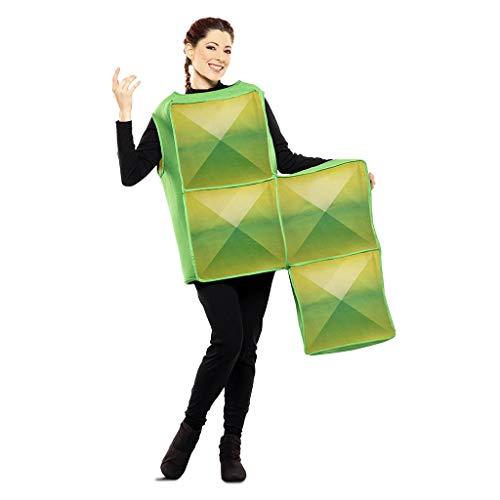 Tetris Disfraz de Figura Verde para Adultos