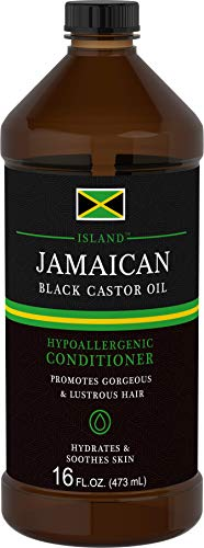 Island Jamaican Black Castor Oil For Hair | 16 oz | Huge Size, All Natural | Packaging May Vary