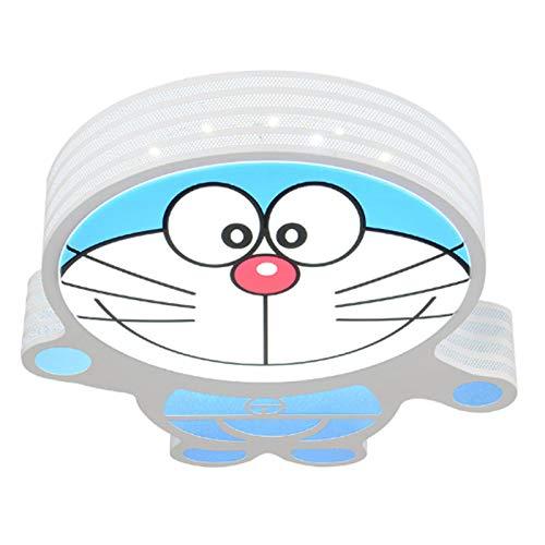 Lámpara De Techo Regulable Con Mando A Distancia Para Habitación Infantil,Plafón Led De Techo,Lámpara Cálida Dibujos Animados Doraemon 56Cm Luz Blanca 36W