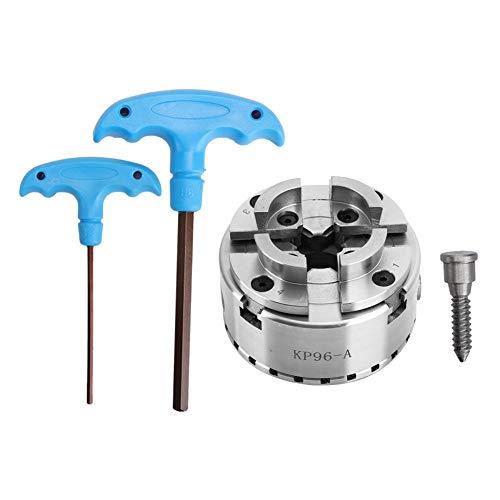 Mandrin de tour, Mandrin à centrage automatique pour le travail du bois Mandrin de tour à 4 mors 100 mm pour machine de tour, Traitement des métaux non ferreux, Plastiques