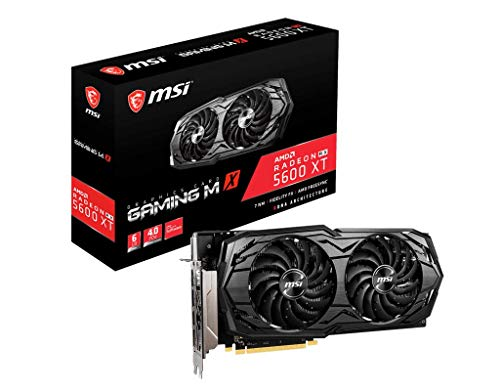 MSI Gaming Radeon RX 5600 XT Boost Clock: 1620 MHz 192-bit 6GB GDDR6 DP/HDMI Dual Torx 3.0 Fans Freesync DirectX 12 Ready Graphics Card (RX 5600 XT GAMING MX)