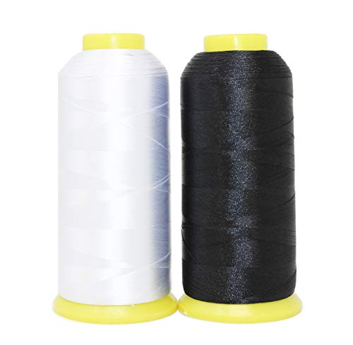 Find Bargain Huge Bobbin Thread for Sewing and Embroidery Machine Black White Set Colors 4500M Each ...