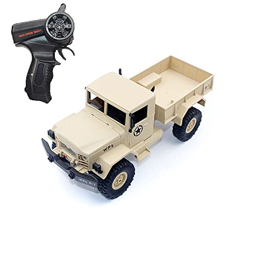 NAMFZX Vehículo todoterreno de escalada con tracción en las cuatro ruedas de 2,4 GHz Camión militar RC 1:16 Vehículo de escalada todoterreno Coche de juguete de control remoto competitivo para niños c