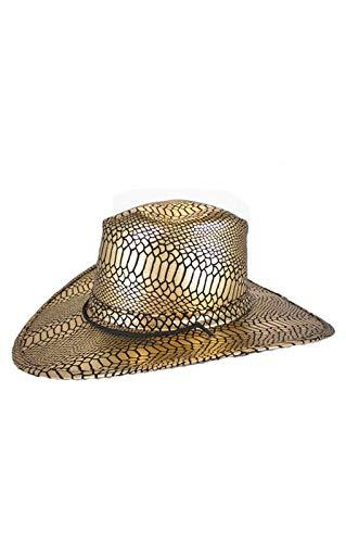 chapeau de cow-boy or / noir
