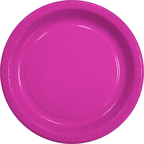 90 x Partyteller Uni Pink Pappteller 23 cm Party Einweg-Teller