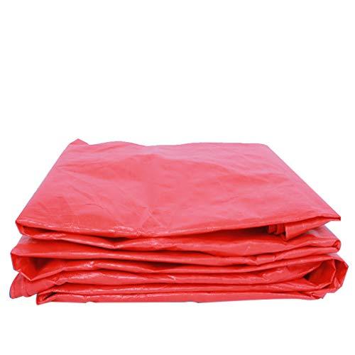 HCYTPL waterdicht dekzeil van polyethyleen, zonwering, waterdicht, paraplu van rode doek