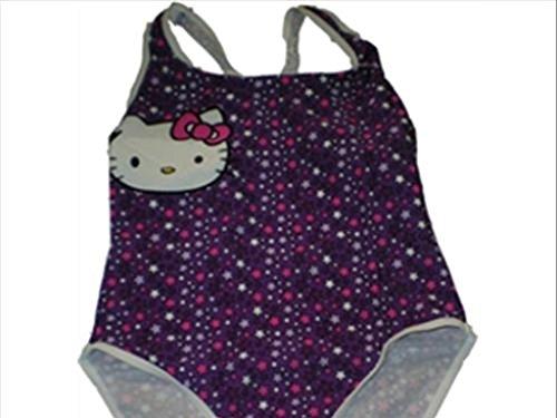 Turbo Girl - Kinder Wettkampf-Badeanzug und Schwimmpolo, Lila 10 Jahre violett