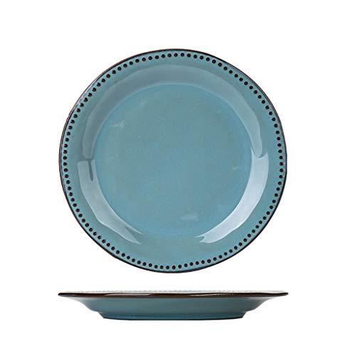 PRIDE S Keramisch tafelgerei plaat schotel plaat Startpagina Creative Net Rode fruitschaal Westelijk Voedsel Plate Dumpling Plate (Color : A)