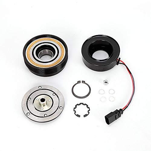 Preisvergleich Produktbild Klimakompressor Magnetspule YUNRUX Magnetkupplung Riemenscheibe Magnetspule für S koda A UDI A3 F ord Galaxy SD7V16