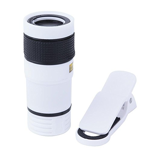 prettygood7 Universele 8X Zoom Optische Telelescoop Lens voor Telefooncamera (wit)