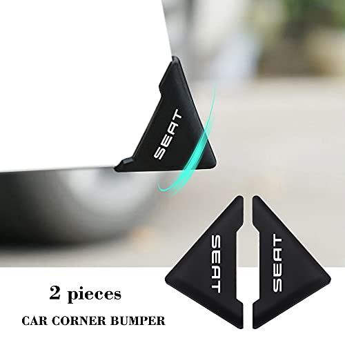 Zyj stores 2 unids Coche Coche Cinta de ángulo de 90 Grados Cubierta de la Esquina Silicona Bumper Anti-Scratch Scratch Compatible con Seat Leon 5F Ibiza 6L 6J Leon 1P Cush (Color : Seat)