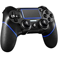 Orda Wireless Controller for Playstation 4/Pro/Slim/PC and Laptop with Motion Motors and Audio Function, Mini LED Indicator, USB Cable and Anti-Slip - Blue