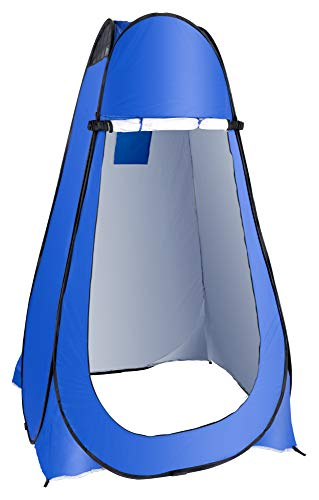 Stagecaptain TZ-190 Quixie Pop-Up Toilet Tent - Ingenious Pop Up Tent for Many Outdoor Uses such as Toilet Tent, Changing Room or Sun Protection - 190 cm High - Only 2.3 kg Heavy - Blue