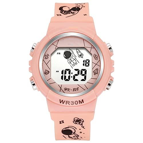 Tianmen Reloj electrónico para niños multifunción minimalista reloj digital astronauta patrón correa casual unisex deportes reloj