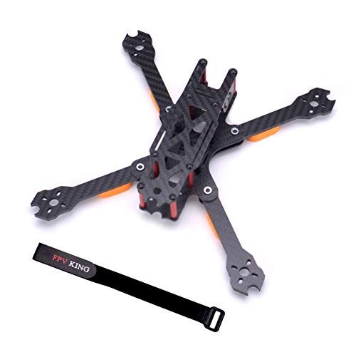 FPVKing QL5 237mm FPV Racing Drone Frame 5 inch Carbon Fiber Quadcopter Freestyle Frame with 4mm Arm + 25cm Lipo Battery Straps