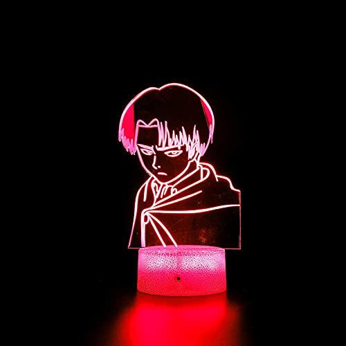 Lámpara de noche de ilusión 3D 3D lámpara de ilusión óptica atacante gigante 16 colores cambio automático interruptor táctil decoración escritorio Lámparas regalo con control remoto