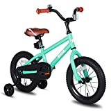 JOYSTAR 14 Inch Kids Bike for Boys Girls 3 4 5 6 Years Old, 14 Inch Kids Bicycle with Training Wheels, Child Bicycle with Foot Brake, Children Cycle - Green