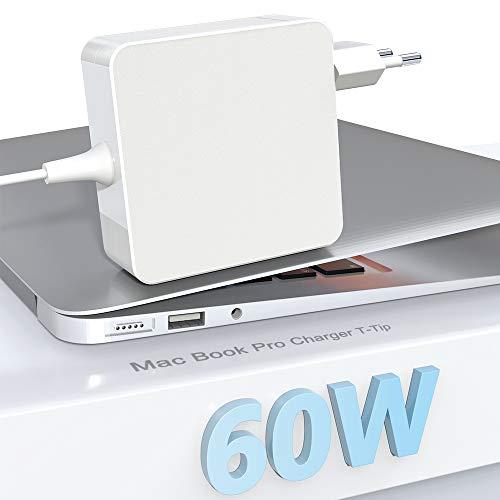 Eletrand Mac Book Prio Caricatore 60W magnetico T-Tip Adattatore Alimentazione Caricatore per Mac Book Pro Retina da 13 pollici e Mac Book Air (dopo la fine del 2012), funziona con 45W / 60W
