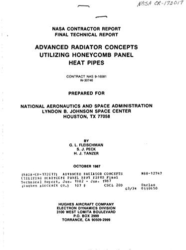 Advanced radiator concepts utilizing honeycomb panel heat pipes (English Edition)