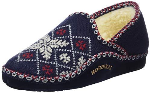 Nordikas Classic, Zapatillas de Estar por casa para Mujer, Azul (Marino 010), 36 EU