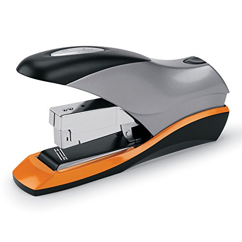 Swingline Stapler, Optima 70, Desktop Stapler Heavy Duty, 70 Sheet Capacity, Reduced Effort Stapler for Office Desk Accessories or Home Office Supplies, Half Strip, Silver (87875)
