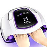 Gel UV LED Nail Lamp,Villsure 108w Nail Dryer UV LED Gel Nail Polish Light for Two Hands,Professional Salon Nail Curing Lamps with 4 Timer Settings,LCD Touch Screen and Smart Automatic Sensor