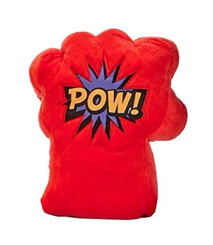 """Peluche Guantes Super Puños con expresiones cómics Wham - Pow - Bang - Zap - 30 CM (12"""") (ROJO POW)"""