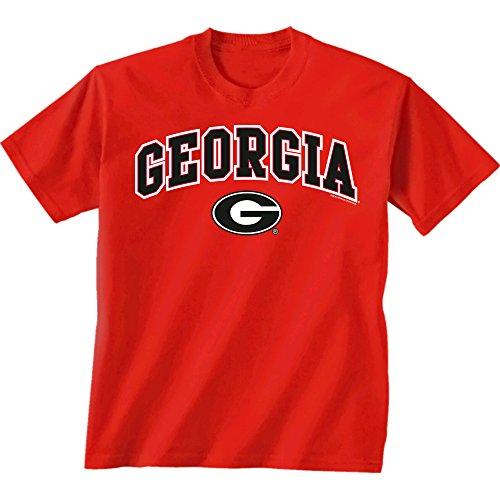 New World Graphics NCAA UGA, Georgien über Super G Short Sleeve T–Shirt, Unisex - Erwachsene, Georgia Bulldogs, rot, XX-Large