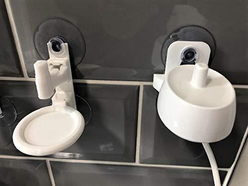 Support mural pour brosse à dents électrique - Support mural chargeur + support mural pour brosse à dents compatible avec les produits Oral B (il s'agit d'un produit sans marque)