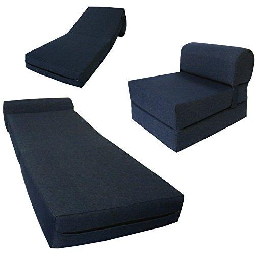 D&D Futon Furniture Chair Folding Foam Bed, Studio Sofa Guest Folded Foam Mattress (6