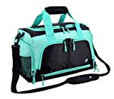 Ultimate Gym Bag 2.0: The Durable Crowdsource Designed Duffel Bag with 10 Optimal Compartments Including Water Resistant Pouch (Teal, Small (15'))