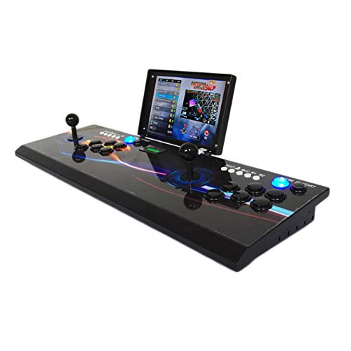 Plug & Play Video Games Machine Arcade Console 10 inch LCD Pandora Box 3D 4008 in 1 Retro Games Emulator Portable Metal Casing Home 2 Player Stick Rechargable add Game on Game Store Online via WiFi