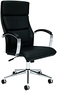 HON High-Back Center-Tilt Polished Aluminum Executive Chair