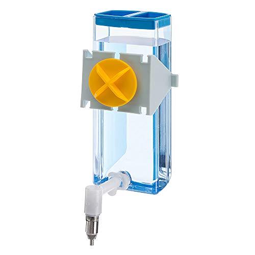 Ferplast Beverino Sippy 4674 Medium, Dispenser Roditori Capacità 300 Cc, Sistema di Fissaggio su Rete Metallica o Superfici Lisce, Beccuccio in Acciaio Inossidabile. 9,5 X 8 X 20 cm - 0,3 L