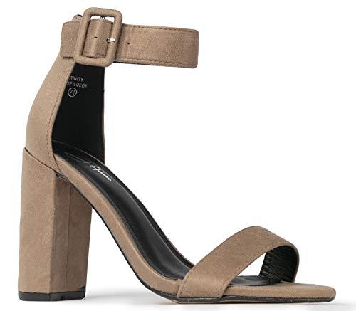 J. Adams Ankle Strap Dress Open Toe High Heel - Trinity