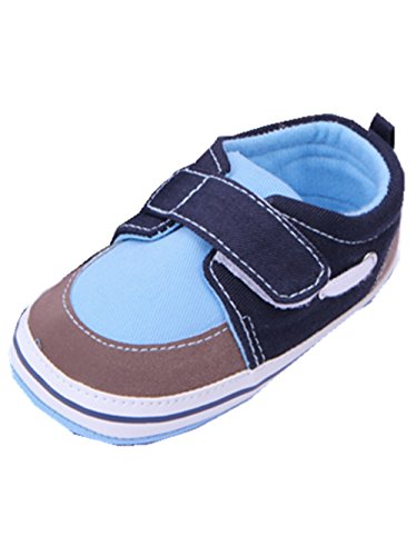 YICHUN Bébé Garçons Chaussures de Premier Pas Simple Chaussures de Loisir Chaussures Souples (Longueur d'Intérieur:12CM, Bleu)