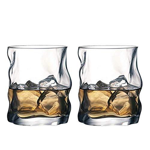 AGGF Vasos de Whisky únicos, Vasos de Whisky Premium, Vasos de Whisky para cócteles, cristalería Estilo Rock Antiguo, Perfecto para Regalos