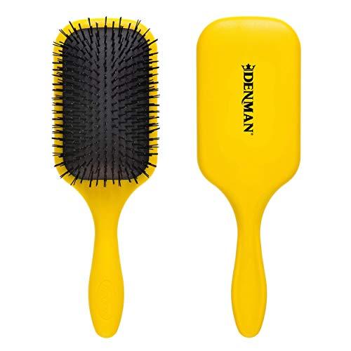 Denman Haarbürste (Langhaarbürste) D90L Tangle Tamer Ultra, Entwirrungs- und Pflege-Bürste für lange und kräftige Haare, Nylonborsten, gelb